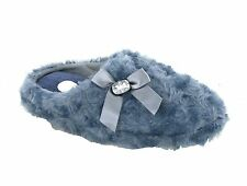New Womens Funky Lovely Cushioned Fluffy Comfort Mule Slip On Slippers Size 3-8
