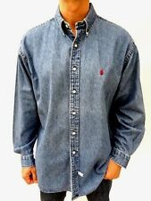 Men's RALPH LAUREN Vintage OVERSIZED DENIM JEAN SHIRT Size XL / XXL (1620)