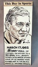 hockey BOBBY HULL original sports editorial cartoon artwork by Hollreiser