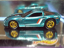 Hot Wheels Custom '11 CORVETTE GRAND SPORT & Gold  Rims with Real Rider Tires