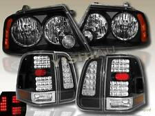 2003 2004 2005 2006 LINCOLN NAVIGATOR HEADLIGHTS JDM & LED TAIL LIGHTS BLACK
