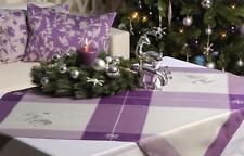 Weihnachten Advent Mitteldecke Tischdecke bestickt Reh lila/silber 95x95cm
