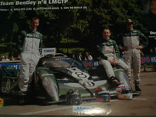 2001 BENTLEY EXP SPEED 8 LE MANS 24 HEURES HOURS RARE POSTER ANDY WALLAVE BELL