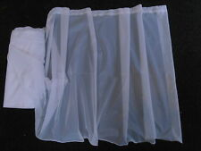 "WINDOW NET CURTAIN VOILE WHITE 45"" 114CM DROP LEAD WEIGHT BOTTOM FINISHED TOP"