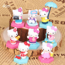 Hello Kitty Cat 8 PCS Action Figures Mini Figurines Display Toy Doll Cake Topper