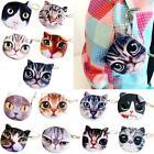 Cat Animal Face Purse Coin Bag Zip Case Wallet Makeup Handbags Clutch Pouch US