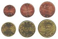 Greece 2003 - Maxi Set of 6 Euro Coins (UNC) **RARE**