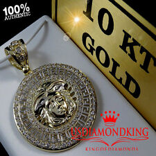 10K SOLID REAL YELLOW GOLD MEDUSA HEAD PENDANT CHARM MEDALLION 2 INCH 8.1 GRAMS