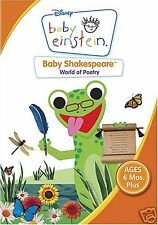 Baby Einstein: Baby Shakespeare, World of Poetry (DVD)~~~Disney~~~NEW & SEALED
