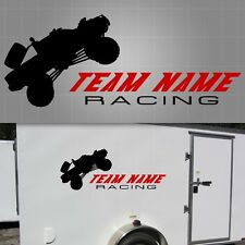 "Off-Road Truck Race Team Graphic,Truck Racing Sticker, Trailer Decal - 22"" x 48"""