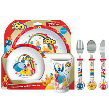 Twirlywoos 6 Piece Tableware Set - Dinner Set & Cutlery *NEW