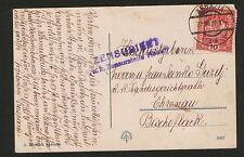 WWI-AUSTRIA-ITALY-POSTCARD ABBAZIA- CENSORSHIP ABBAZIA-SEAL ABBAZIA