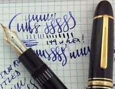 Montblanc 149 Meisterstuuck Fountain Pen 14 CT Gold Working Some Decent Flex