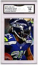 Marshawn Lynch 1 of 49 Art Card Gem MT 10 Artist Autograph Seattle Seahawks