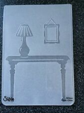 SIZZIX LARGE A6 TEXTURED EMBOSSING FOLDER FOYER TABLE LAMP PICTUREFRAME FREE P&P