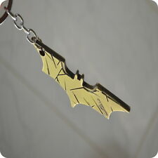 Batman Gold Metal Bat Logo Keychain