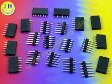 Stk.10 x BUCHSENLEISTE + STIFTLEISTE 6 polig KIT HEADER/Pin Strip Arduino #A1787