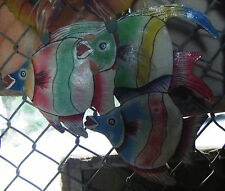 Tropical Fishes Unique Wall Art Haitian Artists Hanging Pictures Ideas House 24""
