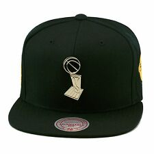Mitchell & Ness Golden State Warriors Snapback Hat All BLACK/Trophy/2015 Finals