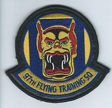 97th FLYING TRAINING SQUADRON(on leather, with velcro)  patch
