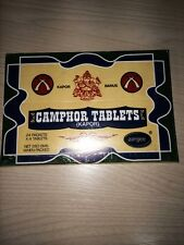 24 Packs x 4 Tablets = 96 CAMPHOR TABLETS USED FOR POOJA, RITUALS & MEDICINE