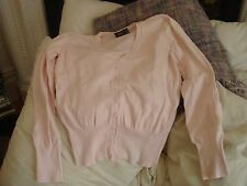 Women's Mexx Cotton Blend Pink Cardigan Jumper Sweater Top Made Italy Large L