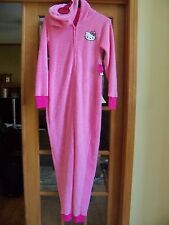 New Womens Hello Kitty Onsie With Attached Hood. L. One Piece. Soft. No Feet.