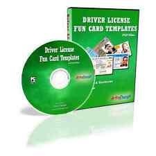 DRIVER LICENSE TEMPLATES: FUN CARDS INVITATIONS PSD