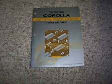 1993 Toyota Corolla Electrical Wiring Diagram Manual Deluxe LE 1.6L 4Cyl