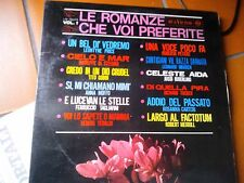 """LP 12"""" LE ROMANZE CHE VOI PREFERITE 1 PRICE TEBALDI GOBBI MOFFO MERRILL CARTERI"""
