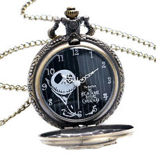 Skull Pocket Watch The Nightmare Before Christmas Jack Skellington Steampunk