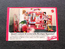 I319-Advertising Pubblicità- 1987 - BARBIE , MATTEL ,BOUTIQUE SUPERSTAR