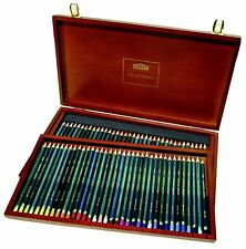 DERWENT (ENGLAND) ARTIST PENCILS 72 PACK WOODEN BOX GREAT FOR ADULT COLOURING