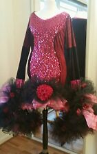 Drag Queen  Ruffle Stage flowers costume Dress UK size XL 22/24/26