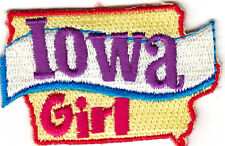 """""""IOWA GIRL""""- Iron On Embroidered Patch/ State Shape/Words, Names, Sayings"""