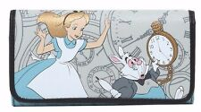 Disney Alice in Wonderland Clocks Snap Flap Wallet Clutch Loungefly NWT
