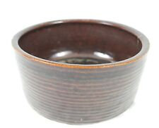 Vintage Clay Pottery Hand Painted Glazed Large Serving Bowl Dish