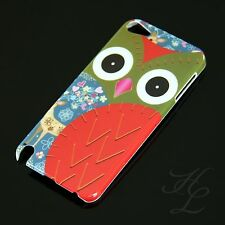 Apple iPod Touch 5 5G Hard Case Schutz Hülle Motiv Etui Cover Rot Eule Owl