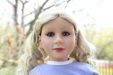 "My Twinn 23"" doll 1997 Audrey Blonde curley hair blue eyes Poseable with BOX"