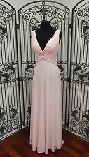 G510 DAVE & JOHNNY 8947 SZ 9/10 PINK HOMECOMING PROM GOWN DRESS
