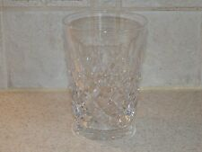 "TUDOR CRYSTAL ENGLAND BURLEIGH PATTERN 4 3/8"" DOUBLE OLD FASHIONED TUMBLER"