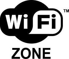 Adesivo sticker Wi-fi zone wifi vetrine 15x13 cm