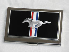 Ford Mustang business card holder with pony tribar logo - great gift