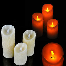 Romantic Flameless LED Electronic Carved Swing Candle Light Remote Control Timer