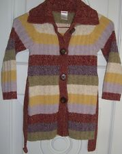 Girls' Gymboree Multi-color Striped Cardigan Button Down Sweater Coat/Size 4