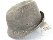 KANGOL Tropic Duke Hat K0235CO Grey Trilby Fedora Style Cap with Brim Small NWT
