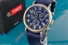 SHARP NEW MENS TIMEX VINTAGE MILITARY AVIATOR TYPE CHRONOGRAPH WATCH