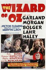 The Wizard Of Oz Judy Garland 1939 Film Cinema Movie Poster Print Picture A4