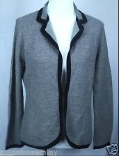 NWT Banana Republic Womens Merino Wool Cardigan Blazer Sweater Knit Black L $130