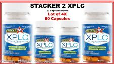 Stacker 2 XPLC Herbal Dietary Supplement 20 ct/Bottle (Lot of 4 X) = 80 Capsules